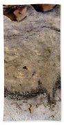 Cave Art: Rhinoceros Bath Towel
