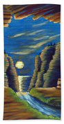 Cave With Cliffs Bath Towel