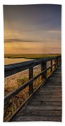 Cedar Beach Pier, Long Island New York Bath Towel