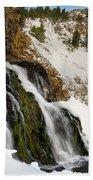 Cedar Creek Falls Winter Bath Towel