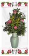 Celadon Vase With Goldenrod Bath Towel