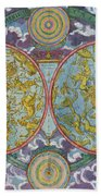 Celestial Map Of The Planets Bath Towel