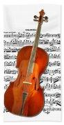 Cello With Clara Bow Bath Towel