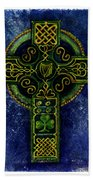 Celtic Cross - Harp Bath Towel