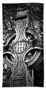 Celtic Cross Detail Killarney Ireland Bath Towel