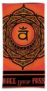 Celtic Tribal Sacral Chakra Bath Towel