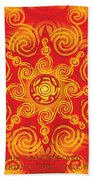 Celtic Tribal Sun Hand Towel