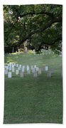 Cemetery At Shiloh National Military Park In Tennessee Bath Towel