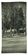 Cemetery In The Woods Bath Towel
