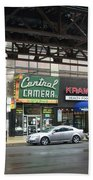 Central Camera On Wabash Ave  Bath Towel