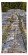 Centralia Graffiti Highway Bath Towel