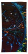 Cern Atomic Collision  Physics And Colliding Particles Bath Towel