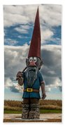 Chainsaw Art Gnome Bath Towel