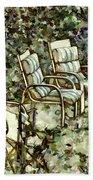 Chairs In Backyard Bath Towel