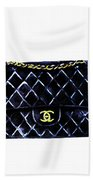 Chanel Bag Poster Bath Towel
