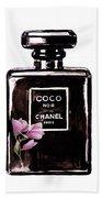 Chanel Noir Magnolia Pink Bath Towel