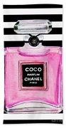 Chanel Pink Perfume 1 Bath Towel