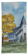 Chapel In Fall Bath Towel