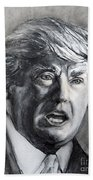 Charcoal Portrait Of The Donald Hand Towel