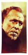 Charles Bukowski, Literary Legend Bath Towel