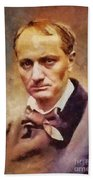 Charles Pierre Baudelaire, Literary Legend Bath Towel