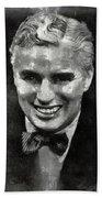 Charlie Chaplin Hollywood Legend Bath Towel