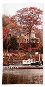 Charming Lady At Rockport Hand Towel