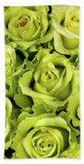 Chartreuse Colored Roses Bath Towel