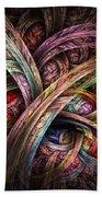 Chasing Colors - Fractal Art Bath Towel