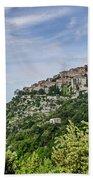 Chateau D'eze On The Road To Monaco Bath Sheet by Allen Sheffield