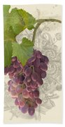 Chateau Pinot Noir Vineyards - Vintage Style Bath Towel