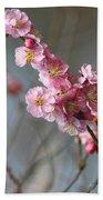 Cheerful Cherry Blossoms Bath Towel