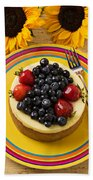 Cheesecake With Fruit Bath Towel