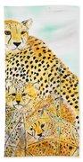 Cheetah Family Bath Towel