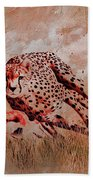 Cheetah Hunting Bath Towel