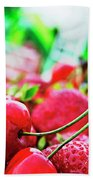 Cherries And Berries Bath Towel