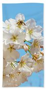 Cherry Blossom And A Bee Bath Towel