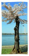 Cherry Blossom Portrait Bath Towel