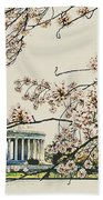 Cherry Blossom Tidalbasin View Bath Towel