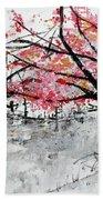 Cherry Blossoms And Bridge Meadowlark Botanical Gardens 201728 Bath Towel