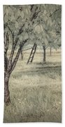 Cherry Orchard In Infrared Bath Towel