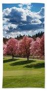 Cherry Tree Bloom Color Bath Towel