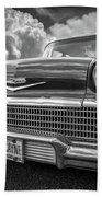 Chevrolet Biscayne 1958 In Black And White Bath Towel