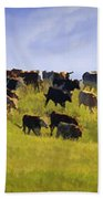 Cheyenne Cattle Roundup Bath Towel