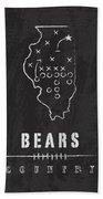 Chicago Bears Art - Nfl Football Wall Print Bath Towel by Damon Gray