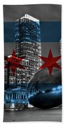 Chicago Flag Bean Bath Towel