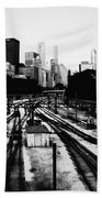 Chicago Grant Park Railroad Skyline Bath Towel