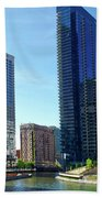 Chicago Heading Up The North River Branch Bath Towel