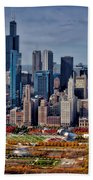 Chicago Looking West 02 Bath Towel