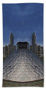 Chicago Millennium Park Bp Bridge Mirror Image Bath Towel